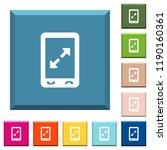 mobile pinch open gesture white ... | Shutterstock .eps vector #1190160361