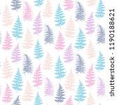 fern frond herbs  tropical... | Shutterstock .eps vector #1190188621
