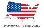 united states of america flag... | Shutterstock .eps vector #1190190367