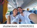 backpackers traveling around... | Shutterstock . vector #1190192311
