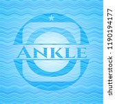 ankle sky blue water wave style ... | Shutterstock .eps vector #1190194177