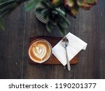 a beautiful glass of hot coffee ... | Shutterstock . vector #1190201377