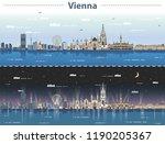 vector illustration of vienna... | Shutterstock .eps vector #1190205367