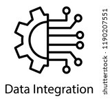 data integration icon on white... | Shutterstock .eps vector #1190207551
