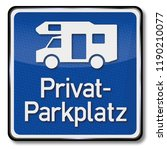 private parking area for... | Shutterstock . vector #1190210077