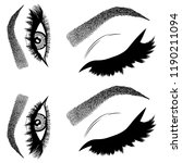 illustration with woman's eyes  ... | Shutterstock .eps vector #1190211094