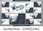 desk calendar 2019 template  ... | Shutterstock .eps vector #1190211661