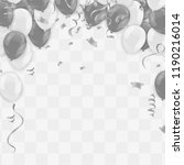 silver balloons illustration... | Shutterstock .eps vector #1190216014