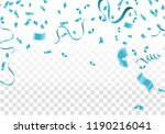 blue ribbons with confetti... | Shutterstock .eps vector #1190216041