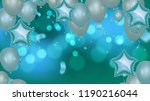 balloons vector illustration.... | Shutterstock .eps vector #1190216044