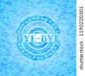 bye bye sky blue emblem with... | Shutterstock .eps vector #1190220301