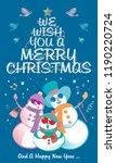 vector of a snowman's family ... | Shutterstock .eps vector #1190220724
