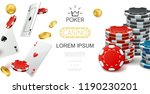 realistic casino colorful... | Shutterstock .eps vector #1190230201