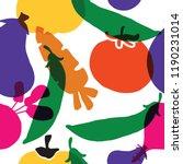 vegetable seamless pattern.... | Shutterstock .eps vector #1190231014