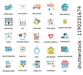 business concepts color vector ... | Shutterstock .eps vector #1190231674