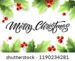 merry christmas hand drawn... | Shutterstock .eps vector #1190234281