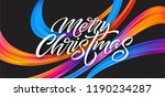 merry christmas hand drawn... | Shutterstock .eps vector #1190234287
