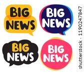 big news. set of vector hand... | Shutterstock .eps vector #1190247847