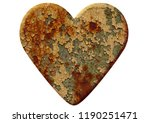 heart made of rusty metal... | Shutterstock . vector #1190251471