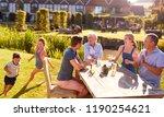 multi generation family... | Shutterstock . vector #1190254621