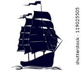 old sailing ship. illustration... | Shutterstock .eps vector #119025505