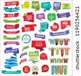 modern sale banners and labels... | Shutterstock .eps vector #1190256421