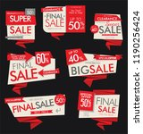 modern sale banners and labels... | Shutterstock .eps vector #1190256424