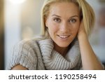 portrait of 40 year old woman... | Shutterstock . vector #1190258494