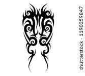 tribal pattern tattoo art... | Shutterstock .eps vector #1190259847