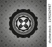 crossed bandage plaster icon... | Shutterstock .eps vector #1190260987