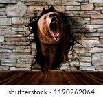 the bear leaves the pedestrian. ... | Shutterstock . vector #1190262064