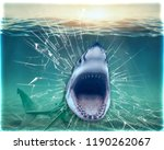 wallpaper for wall sharke... | Shutterstock . vector #1190262067