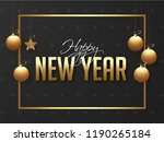 happy new year poster or banner ... | Shutterstock .eps vector #1190265184