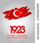 29 ekim cumhuriyet bayrami. 29... | Shutterstock .eps vector #1190265244