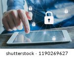 data protection and... | Shutterstock . vector #1190269627