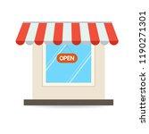 store shop or market  vector ... | Shutterstock .eps vector #1190271301