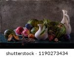still life with watermelon | Shutterstock . vector #1190273434
