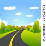 spring or summer road to the... | Shutterstock .eps vector #119027971