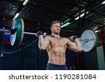 muscular fitness man preparing...   Shutterstock . vector #1190281084