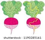 easy radish maze for kids with... | Shutterstock .eps vector #1190285161