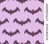seamless pattern with bats on... | Shutterstock .eps vector #1190286604