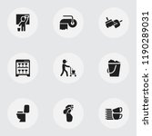set of 9 editable hygiene icons.... | Shutterstock .eps vector #1190289031