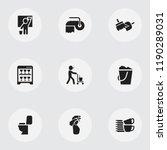 set of 9 editable hygiene icons.... | Shutterstock .eps vector #1190289031