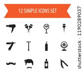 set of 12 editable hairstylist...