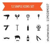 set of 12 editable hairstylist...