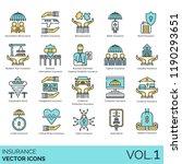 insurance vector icons.... | Shutterstock .eps vector #1190293651