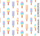 ice cream pattern. background.... | Shutterstock .eps vector #1190301931