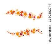 vector set of autumn leaves   Shutterstock .eps vector #1190302744