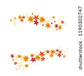 vector set of autumn leaves...   Shutterstock .eps vector #1190302747
