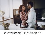 afro american couple is hanging ... | Shutterstock . vector #1190304547